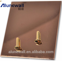 Painel de poliuretano composto Alunewall com aço inoxidável / superfície de alumínio fabricante chinês