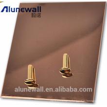 Alunewall композитная панель полиуретана с нержавеющей сталью / алюминием поверхность китайским производителем