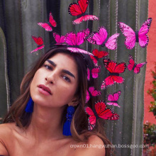 Mexican Rose Butterfly Fascinator For Ladies Women