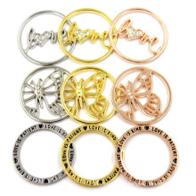 Custom Interchangable Edelstahl-Münzen-Platten für schwimmende Locket