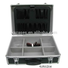 Strong&Portable Aluminum Tool BOX With Fold-Down Tool Pallet &Adjustable Compartments Inside