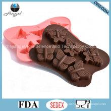 Heißer Verkaufs-Schmetterlings-Kuchen-Werkzeug-Silikon-Schokoladen-Form Si24
