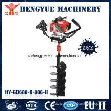 Máquina de perfuração de solo para serviço pesado de 68 cc com 2 tempos