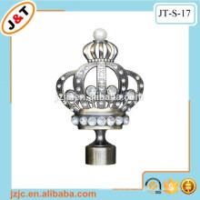 Hochwertige Diamant-Krone Finial Vorhang Stange Vorhang Pole Vorhang Haken