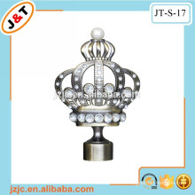 high quality diamond crown finial curtain rod curtain pole curtain hook
