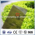 Grade A cheap bronze Polycarbonate hollow sheet with UV coating