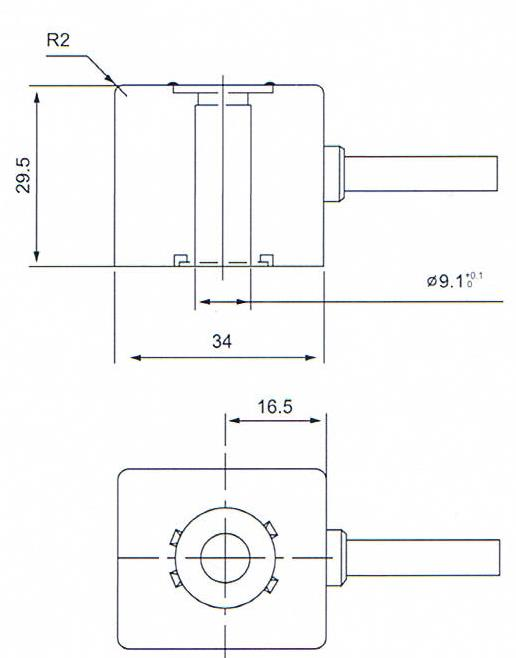 Main dimension of DC24V/220VAC MCH-3-1/2 solenoid valve coils