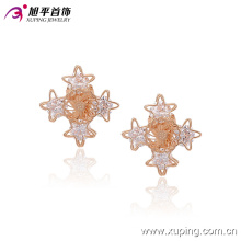 Fashion Nice CZ Crystal Star Imitation Jewelry Clip on Earring -90955