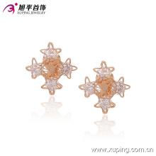 Fashion Nice CZ Crystal Star Imitation Jewelry Clip on Earring -90955