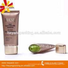 Emballage en tube de caoutchouc en plastique ovale 35ml pour crème