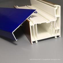 Profils en PVC laminé en aluminium