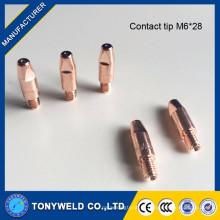 Ponta de contato de cobre Binzel para tochas de soldagem