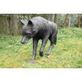 Hochwertige lebensgroße Wolfstatuen