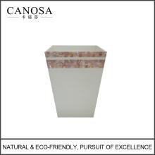 होटल के लिए अच्छी गुणवत्ता गुलाबी शेल कचरा बिन