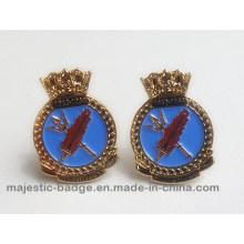 Blue Enamel Cuff Link Hz 1001 F014