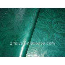 Color Verde Vestido Africano Tela Damasco Barato Guinea Brocade Bazin Riche 100% Algodón