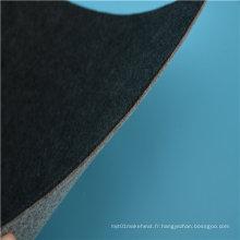Matériau de couverture électrique en coton noir chauffant