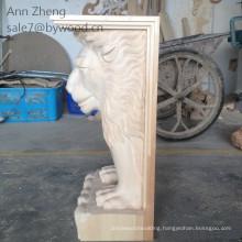 solid wooden carvins animal wood corbel lion wood column