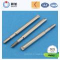 Eje hecho por encargo del motor eléctrico del acero inoxidable de la fábrica del ISO