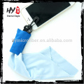 2015 Best quality microfibre keychain glasses cleaning cloth, glasses wiping cloth
