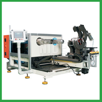 Automatic stator winding and expanding machine
