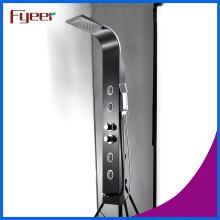 Panneau de douche noir en acier inoxydable Fyeer