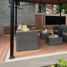 Hot wood-plastic floor outdoor composite co-extruded floor