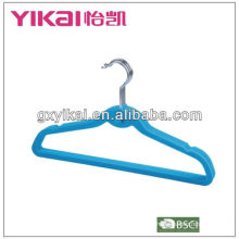 Colorful velvet hanger with BSCI,BRC Certificate