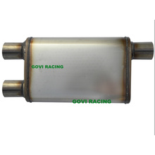 Dual 2.5′′/Center 3′′ Mirror Car Truck Mufflers Exhaust Muffler 4′′x9′′x22′′x28′′