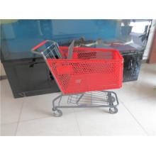 Красный зеленый синий цвета Пластиковые покупательские тележки для продажи
