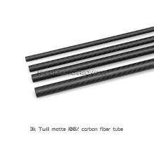 Grandes tubos de fibra de carbono 3K con tapa de tubo