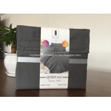 Drap de literie en tissu brossé de couleur unie et sans rides