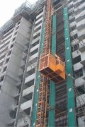 2000 / 2000 Kg * 2 Construction Hoist Elevator With Lifting Height 150 M