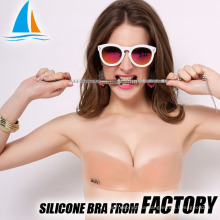 Silicone invisible one piece sexy girls bra