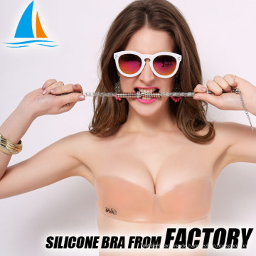 Silikon unsichtbarer einteiliger sexy Mädchen BH