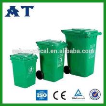 Kunststoff Staubbehälter mit zwei Rädern & Deckel