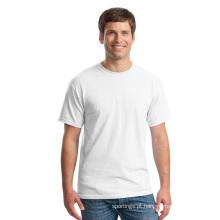 Poliéster material preço barato por atacado em branco T-shirts