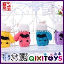 Plush Animal fleece set hat scarf gloves set