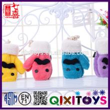 Плюшевые руно животные набор комплект шапка шарф перчатки