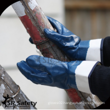 SRSAFETY free sample/jersey liner nitrile fully coated working gloves