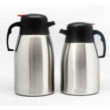 Vaso térmico de café de aço inoxidável de parede dupla de vácuo de thermos 1L