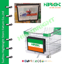 shopping trolley cart front display board