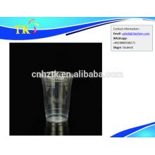 Plástico transparente grueso PP bebida caliente y fría taza taza leche 600ml