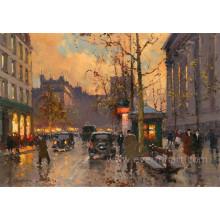 Peinture abstraite moderne de Paris France