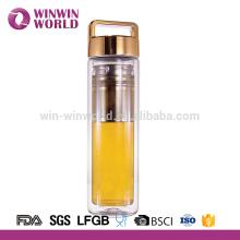 Botellas de agua de consumición de cristal vacías del vidrio del Borosilicate de Protable de 400ml Protable