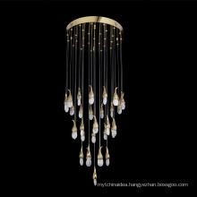 Modern Lighting Chandelier Luxurious Crystal Chandelier for Living Room Brass Crystal Chandelier LED Lights