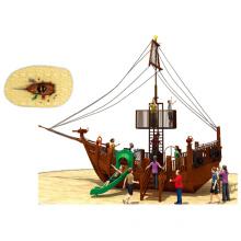 Outdoor Wooden Pirateship Playground