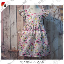 Boutique remake girls summer floral vintage dress