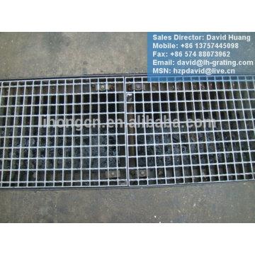 Cubierta galvanizada de la zanja, rejilla galvanizada del acero del dren, pasarela de la rejilla de acero galvanizada