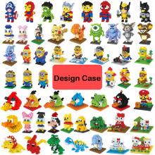 ABS Nano Design Blocos Mini Blocos DIY Nano Brinquedos Design